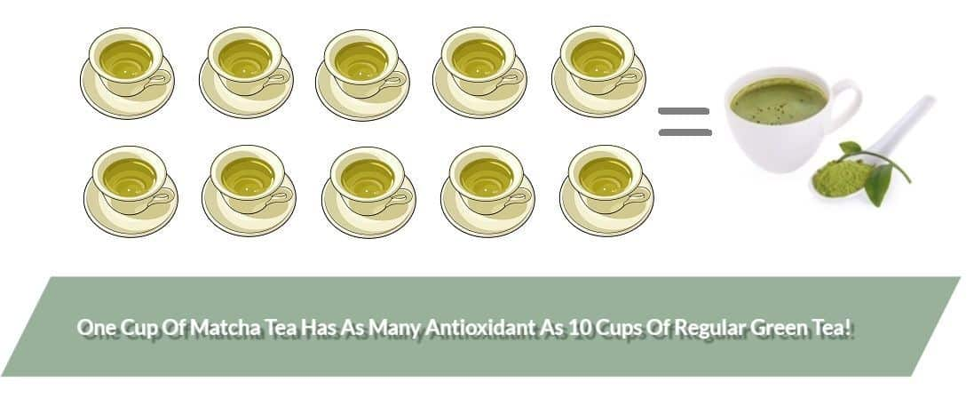 antioxidant levels in matcha
