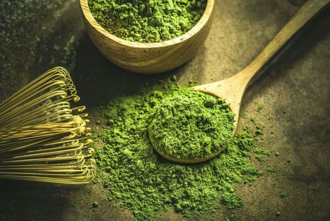 Fine matcha powder