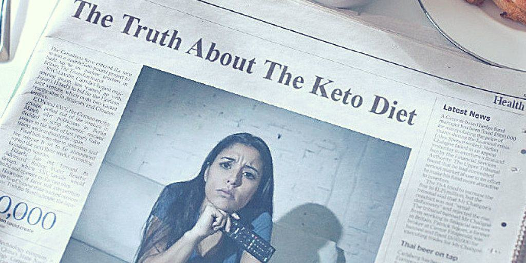 Newspaper article about the keto diet