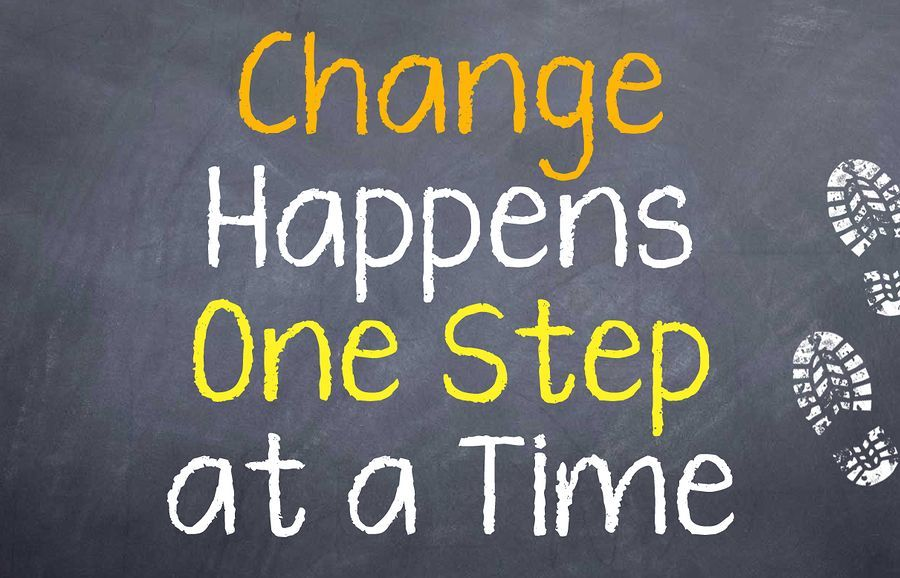 Change Happens One Step weight loss motivation