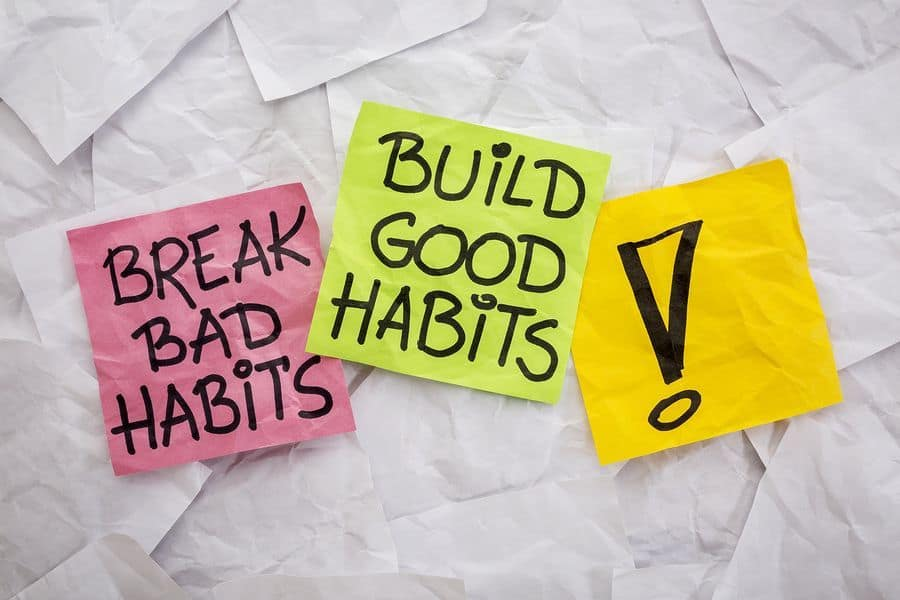 break bad habits build good to loose weight