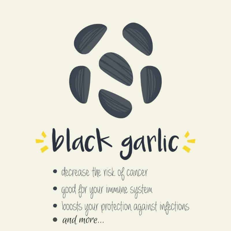 List of Benefits of Black Garlic