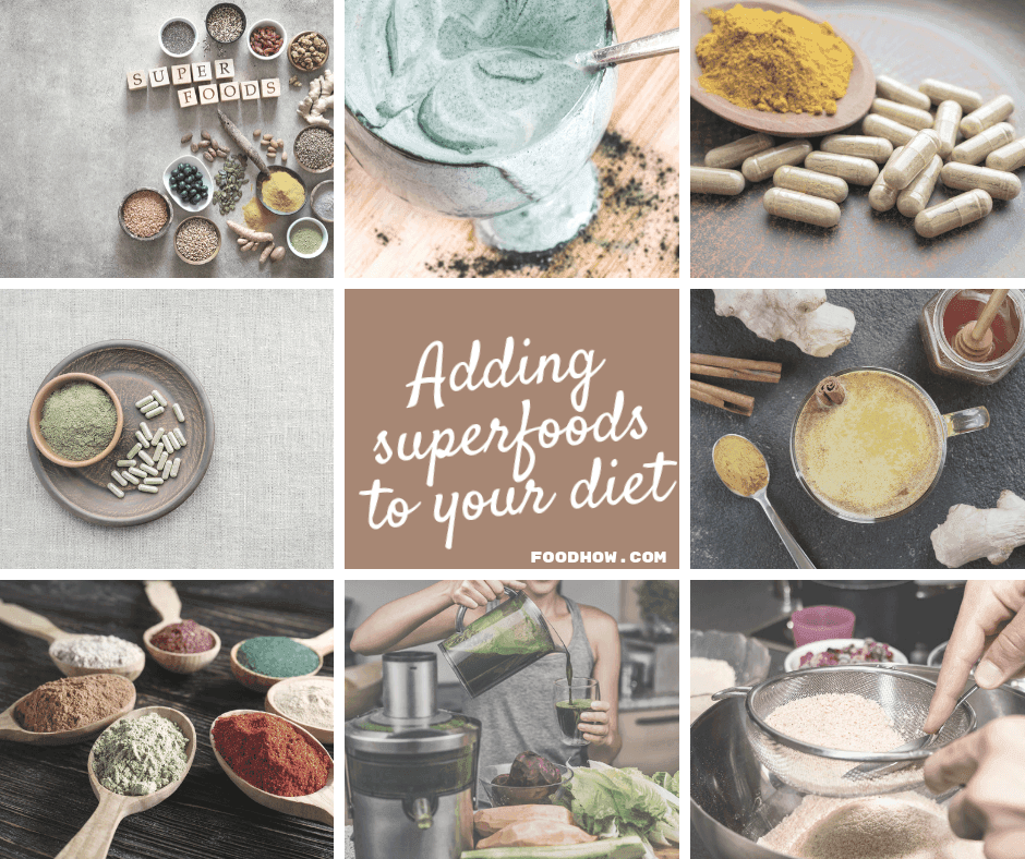 Using superfood powders in cooking