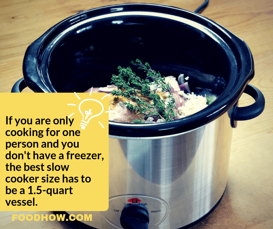 Small one person slow cooker