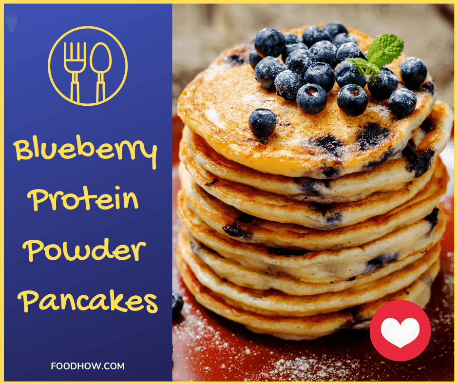 My Favourite Blueberry Protein Powder Pancakes