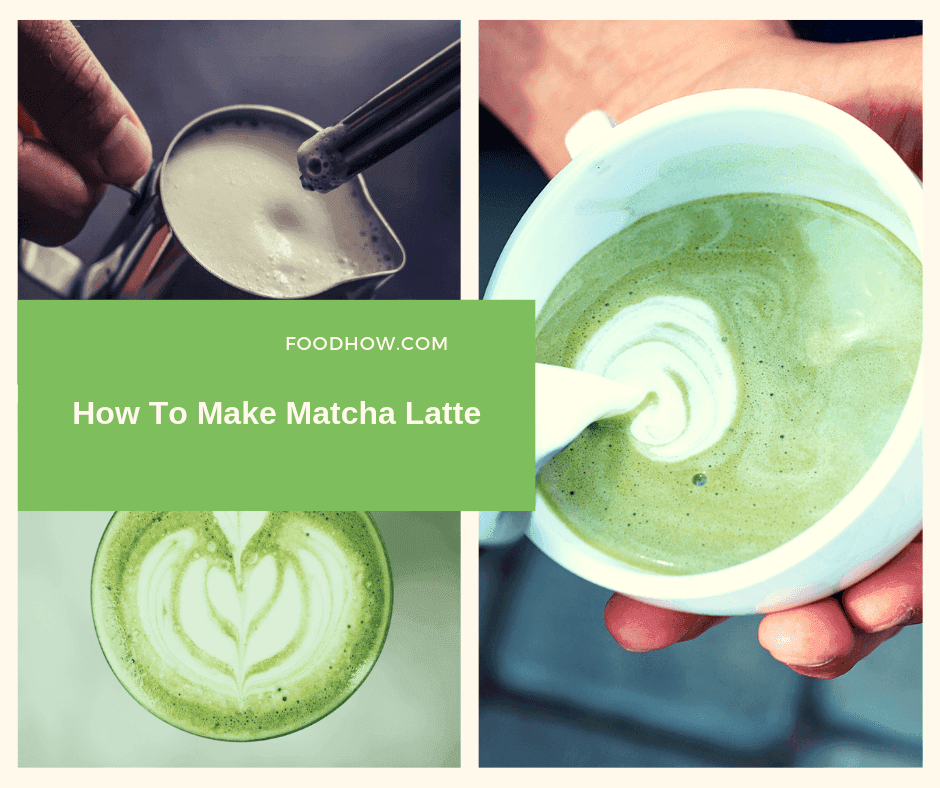 A cup of matcha latte