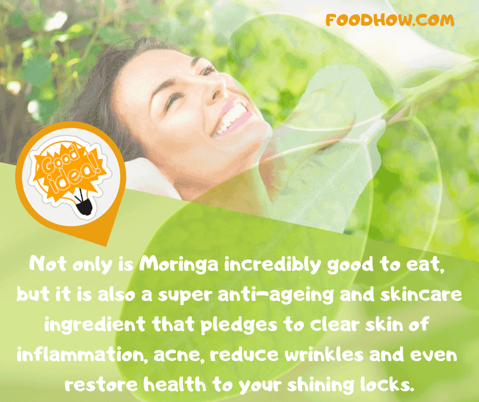 A woman with Moringa leaves