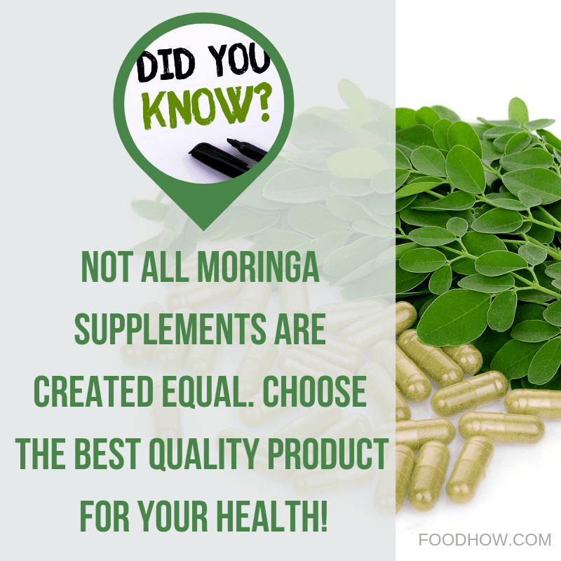 Moringa supplements