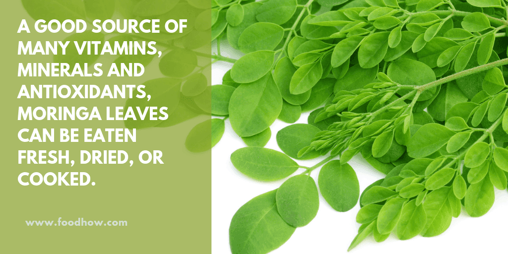 Raw Moringa leaves