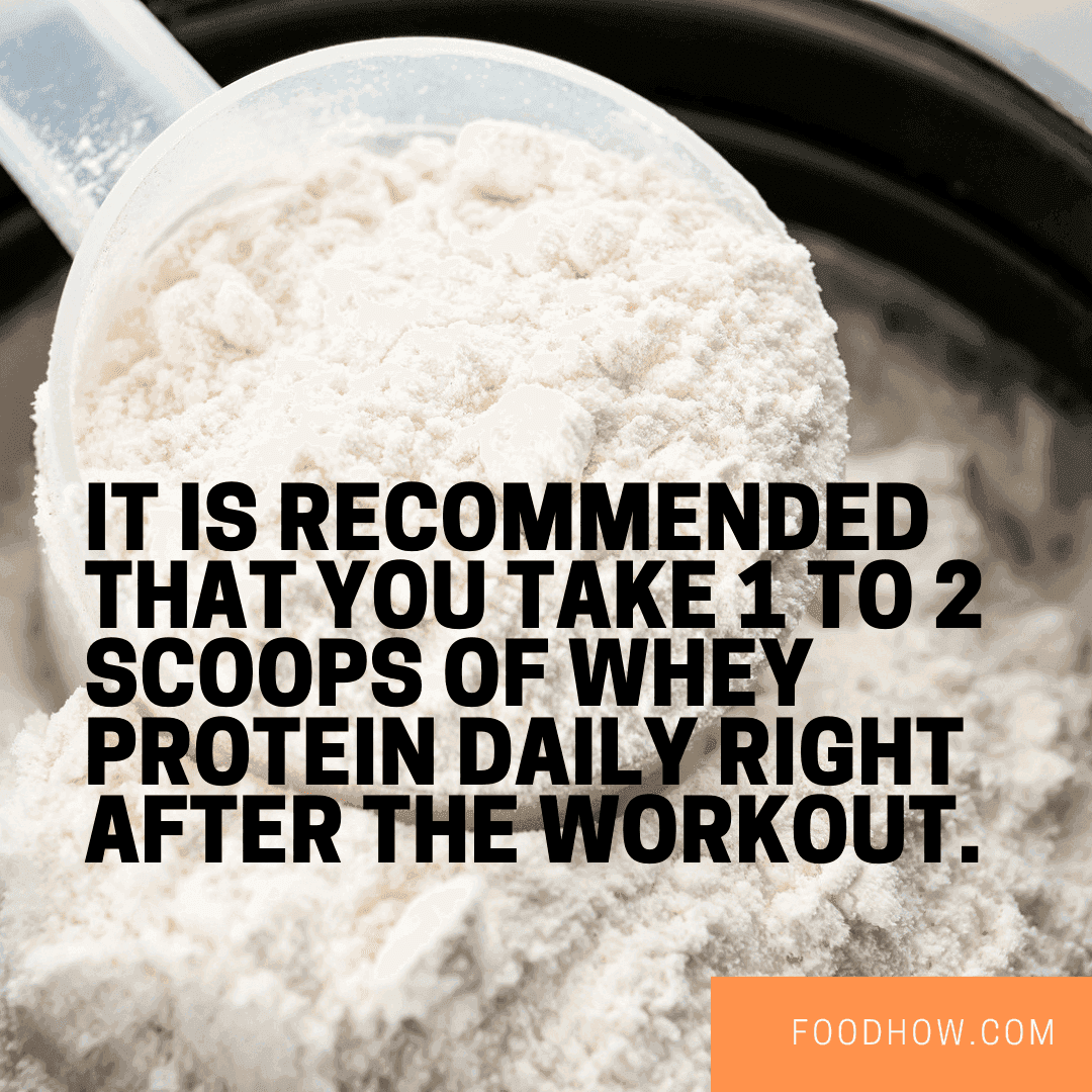 one daily serving of protein powder