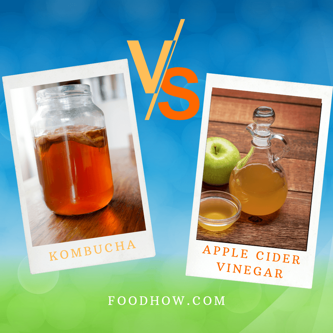 kombucha and apple cider vinegar