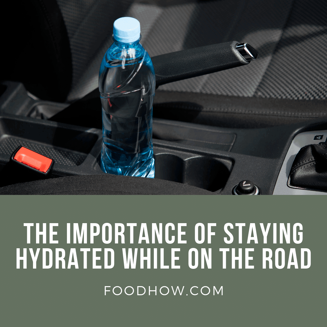 Bottle of water in the car