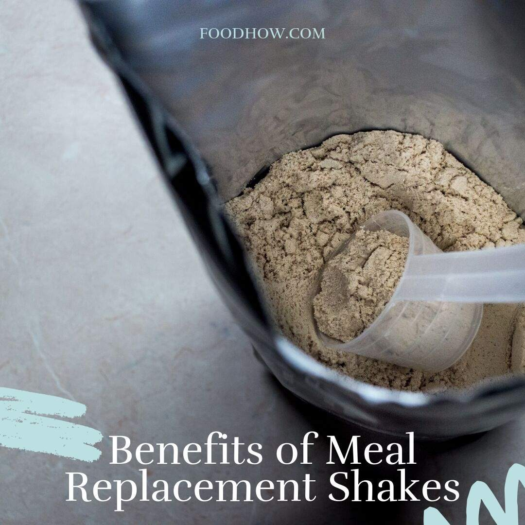 a scoop of meal replacement powder