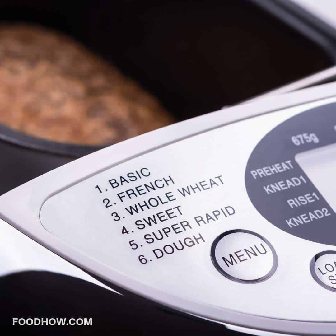 bread machine settings