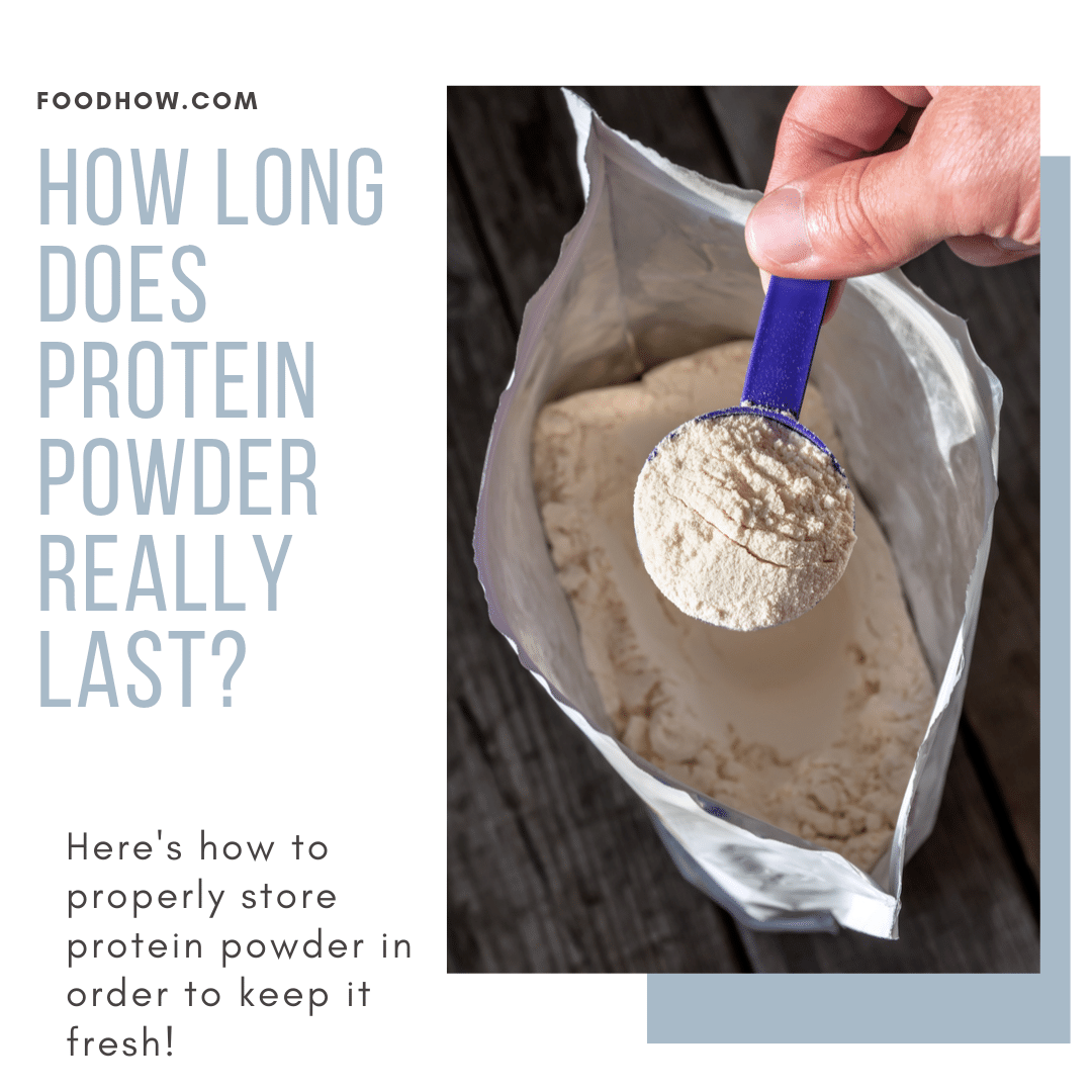 An open bag of protein powder