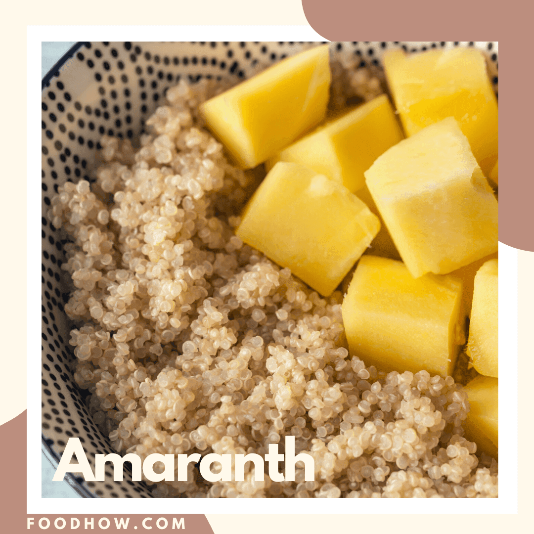 Cooked amaranth