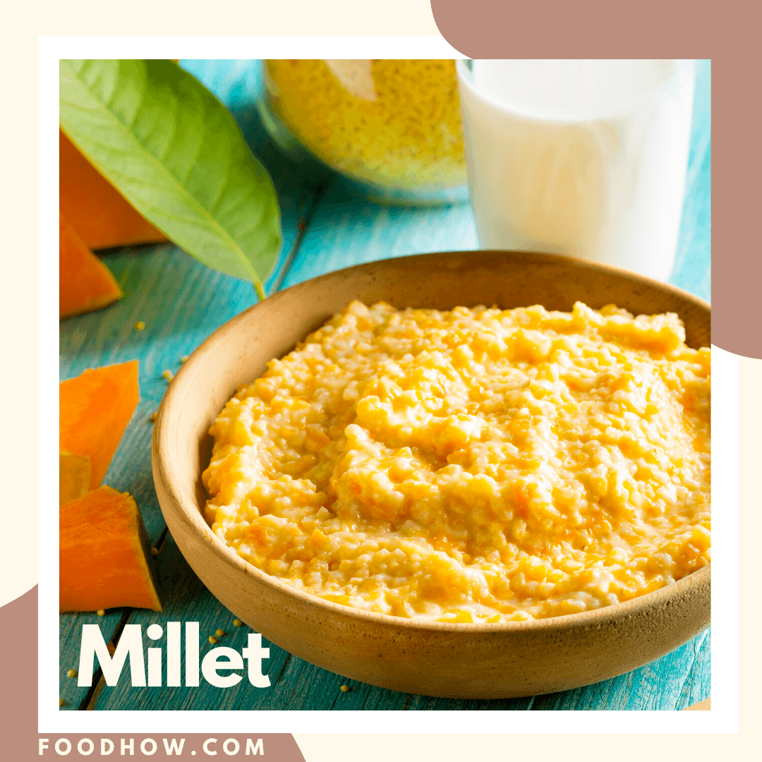 A bowl of cooked Millet