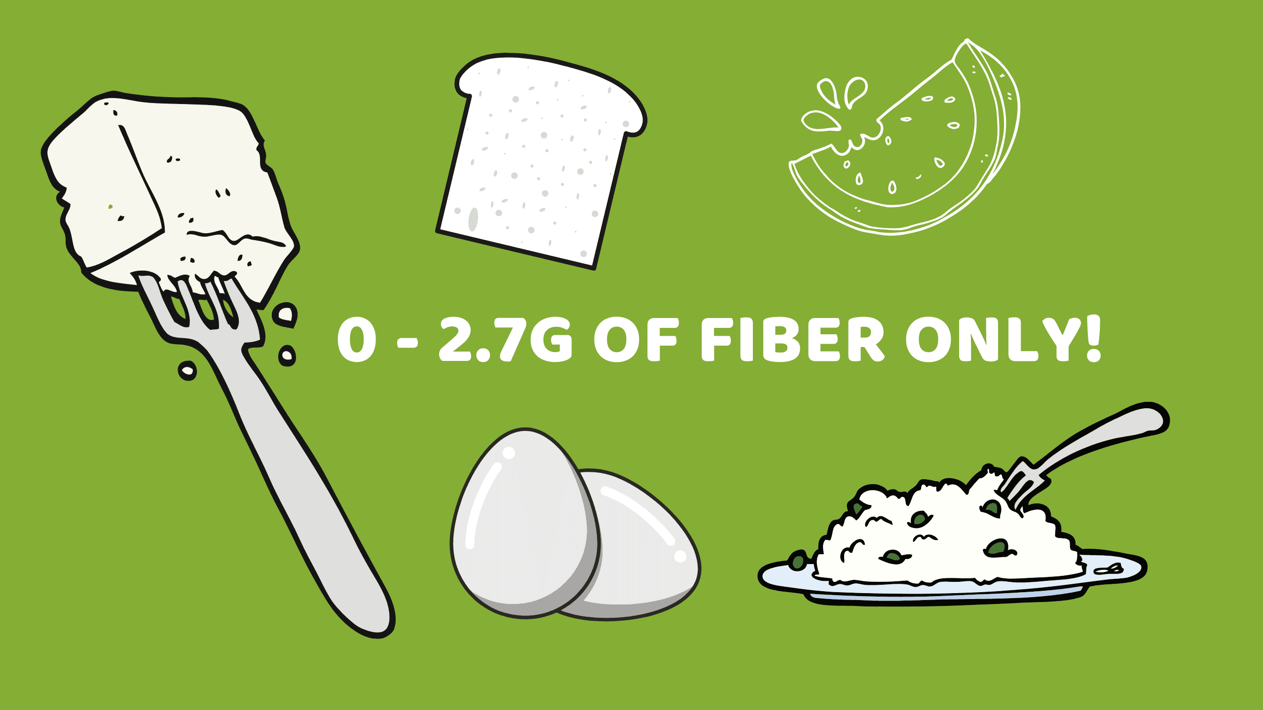 19 Foods That Are Super Low In Fiber