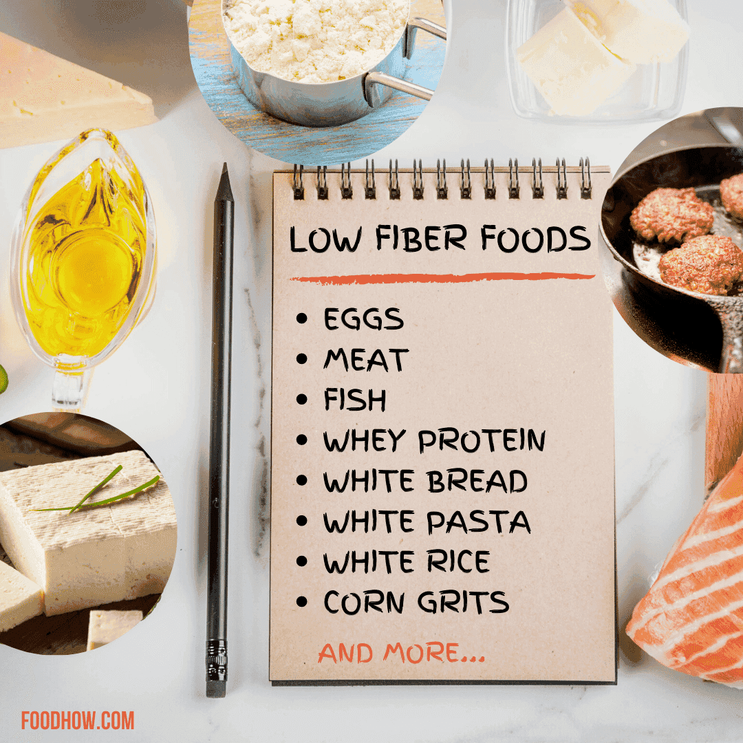 foods that are low in fiber
