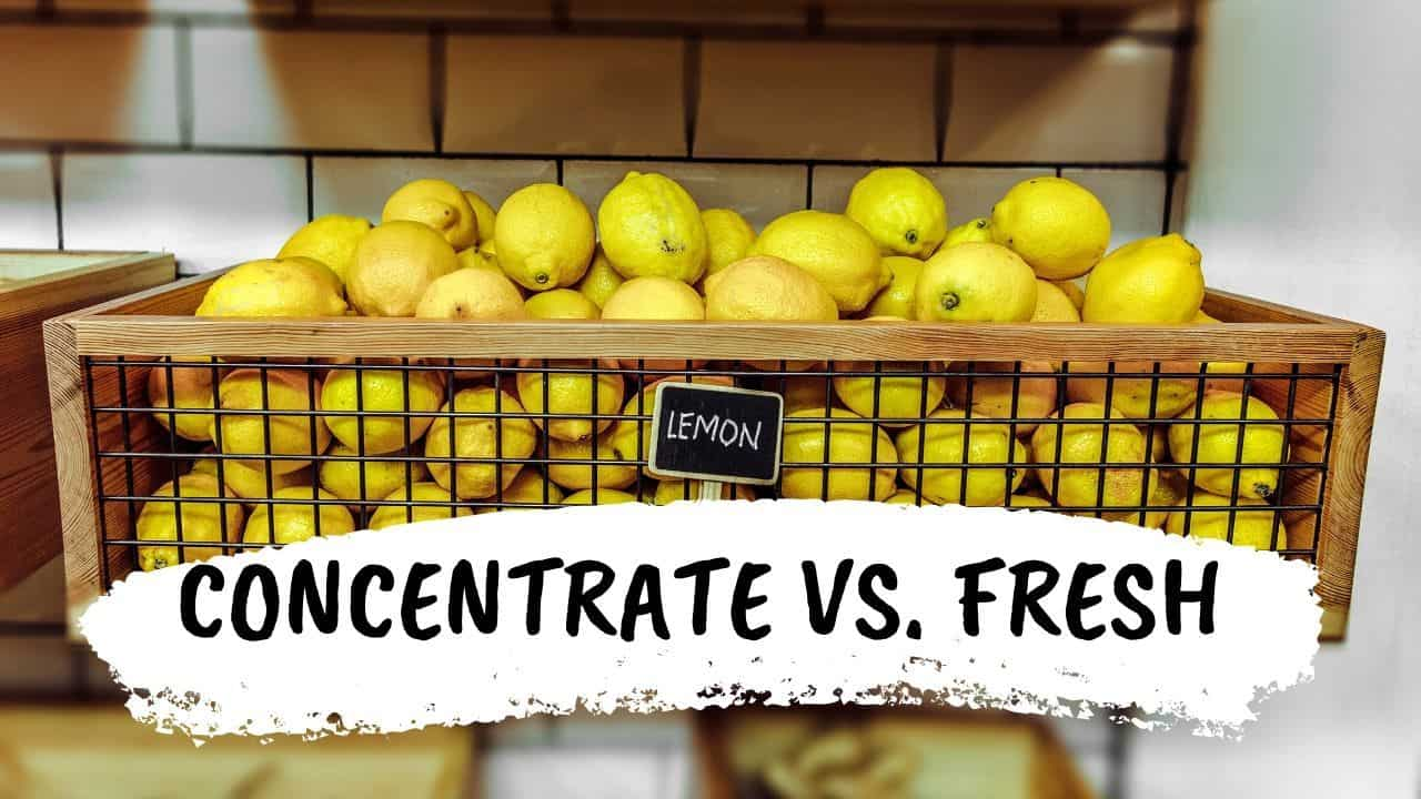 Lemon Juice From Concentrate vs Fresh Squeezed One — What Is The BIGGEST Difference?