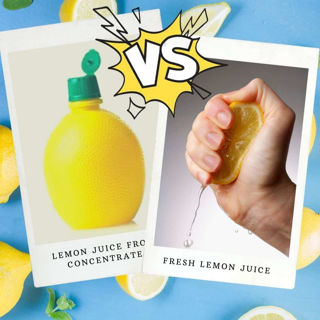lemon juice bottled vs fresh