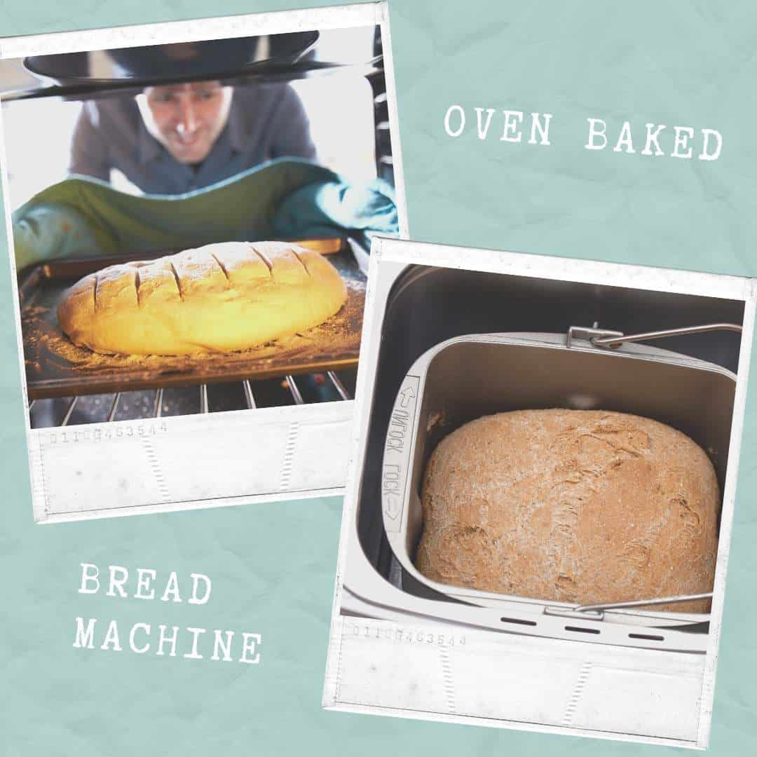 bread machine vs oven baking