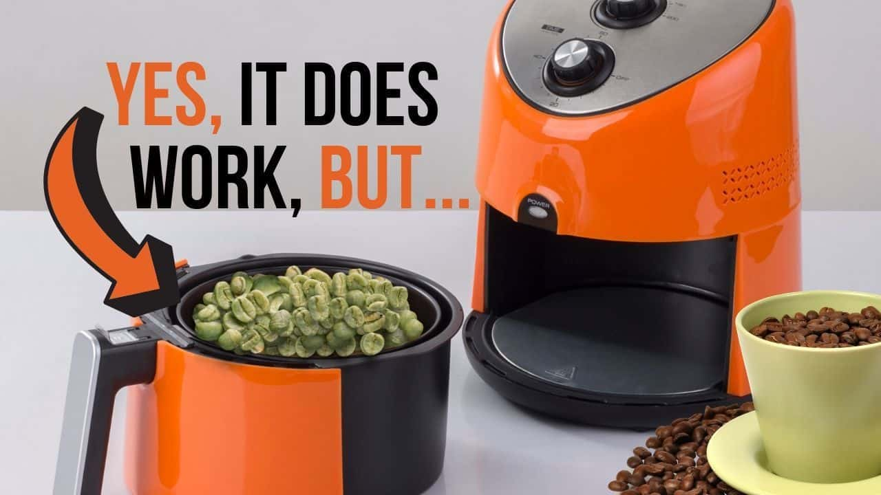 green coffee beans in the air fryer