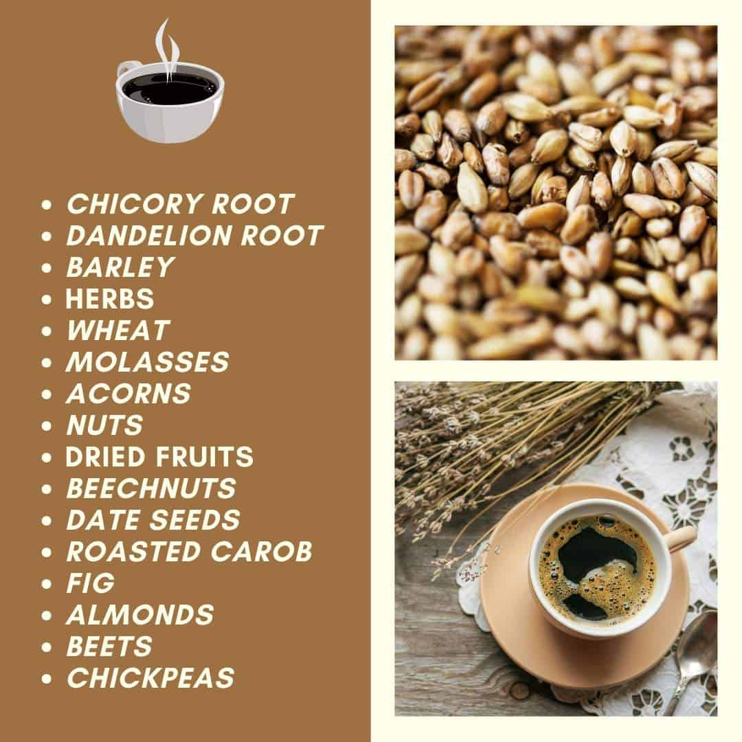 list of ingredients in grain coffee