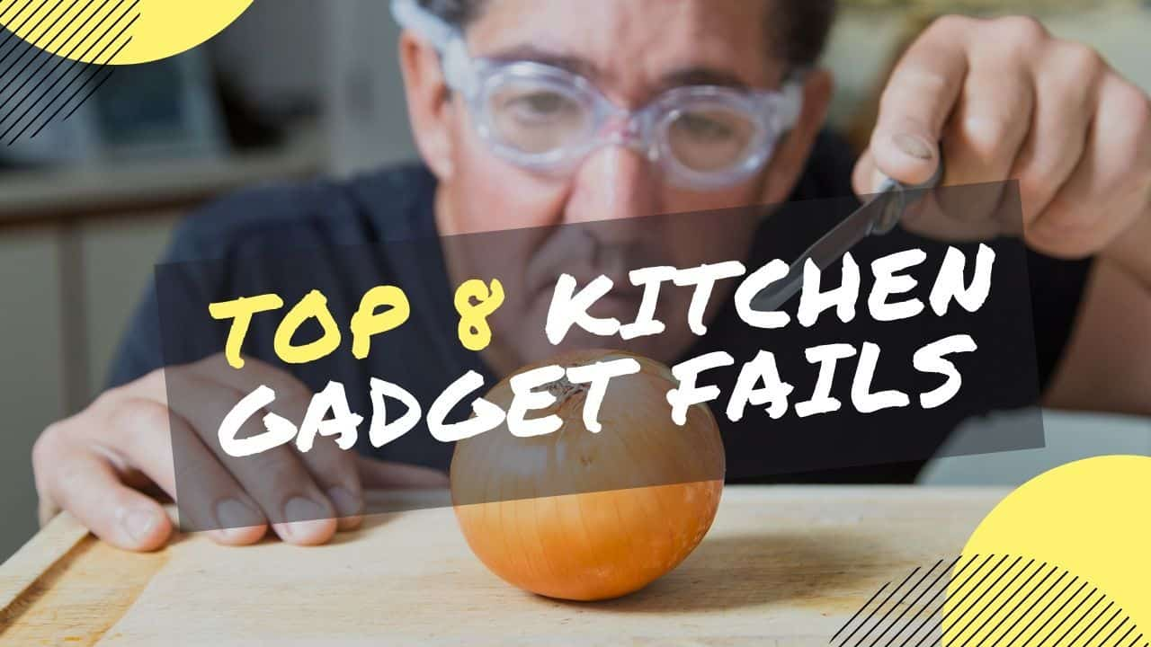 a man using onion goggles in the kitchen