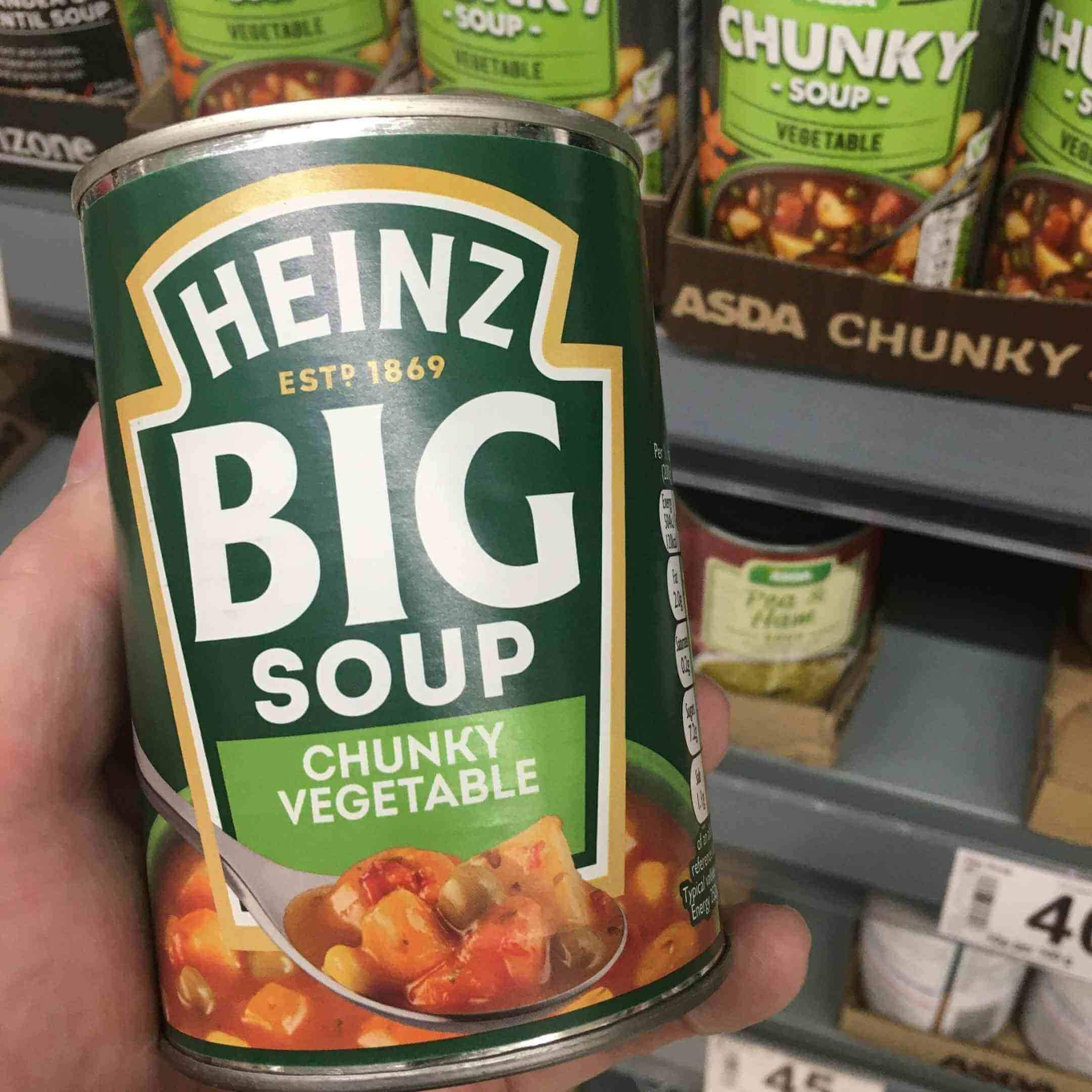 chunky vegetable soup in the can
