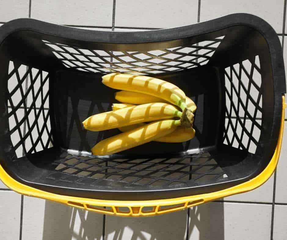 bananas in the shopping basket