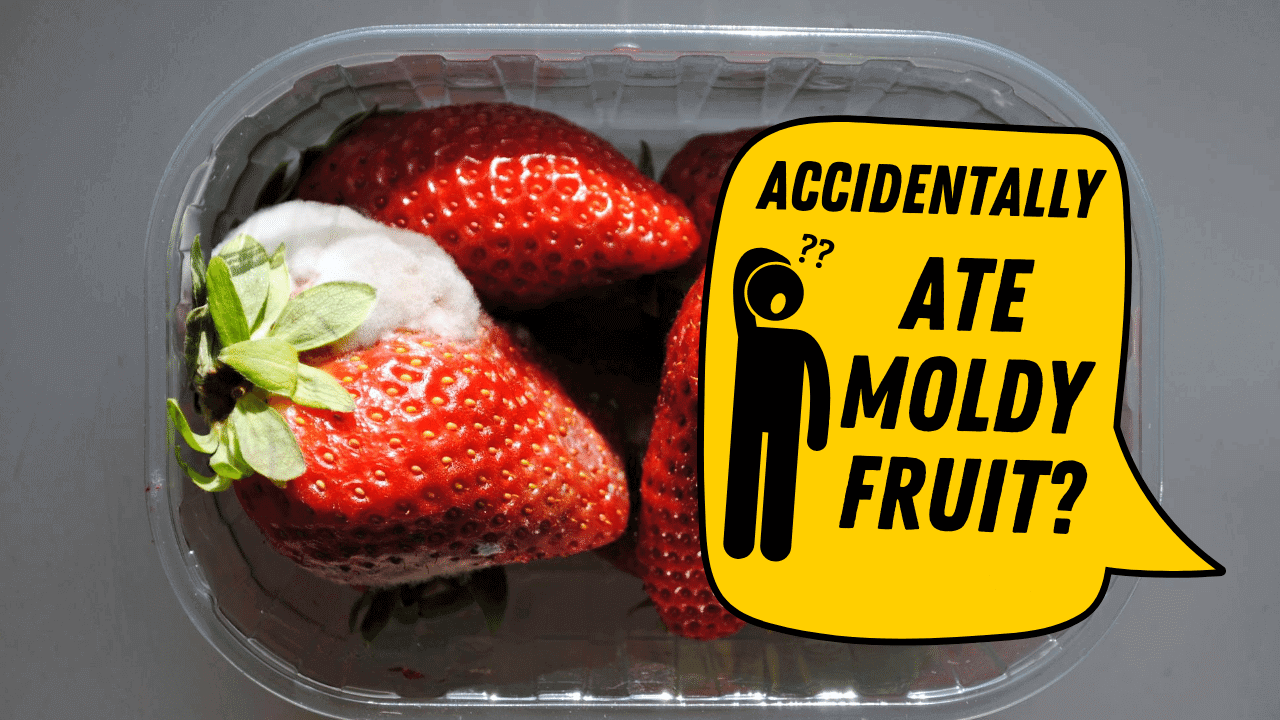 moldy strawberry in the box