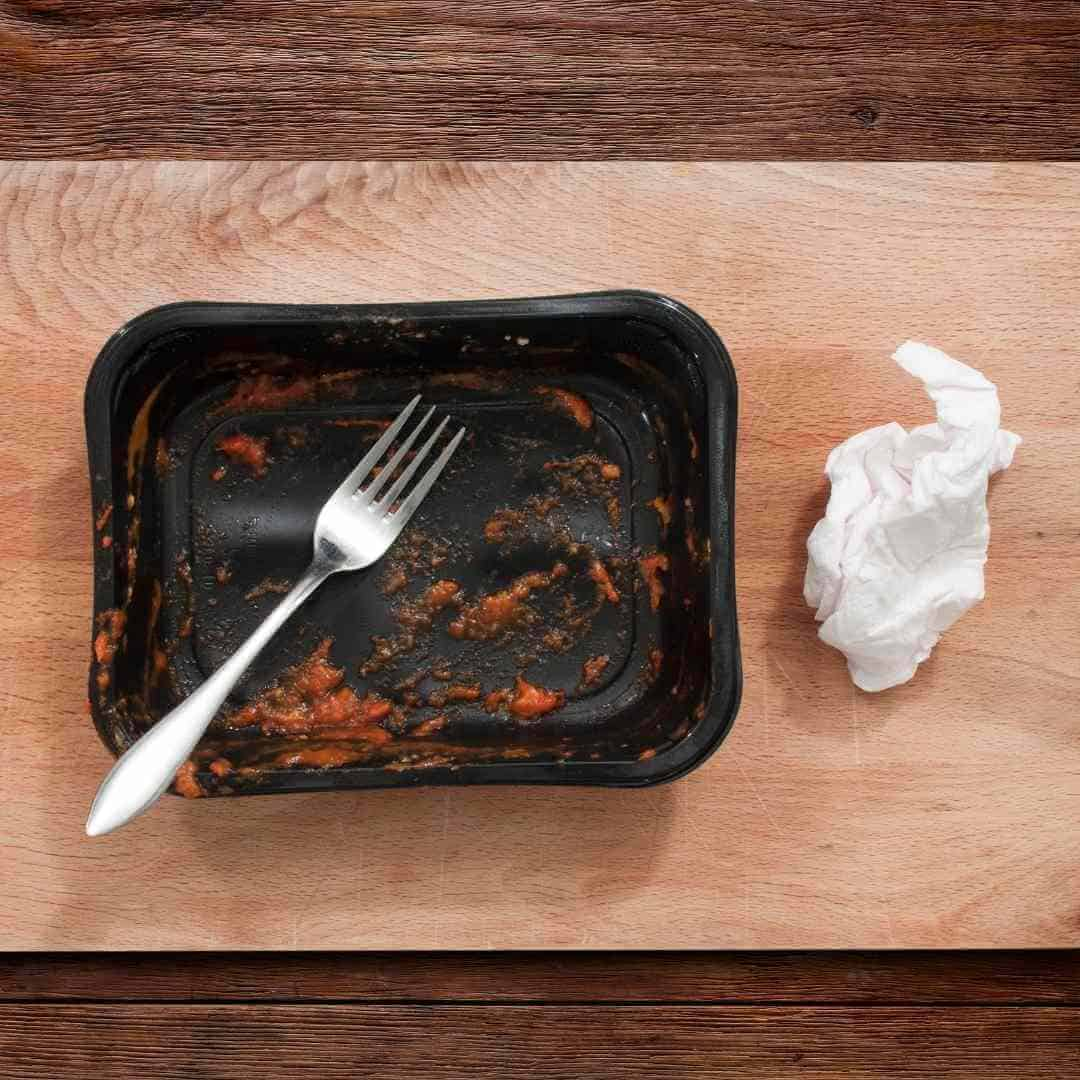 ready meals in plastic container