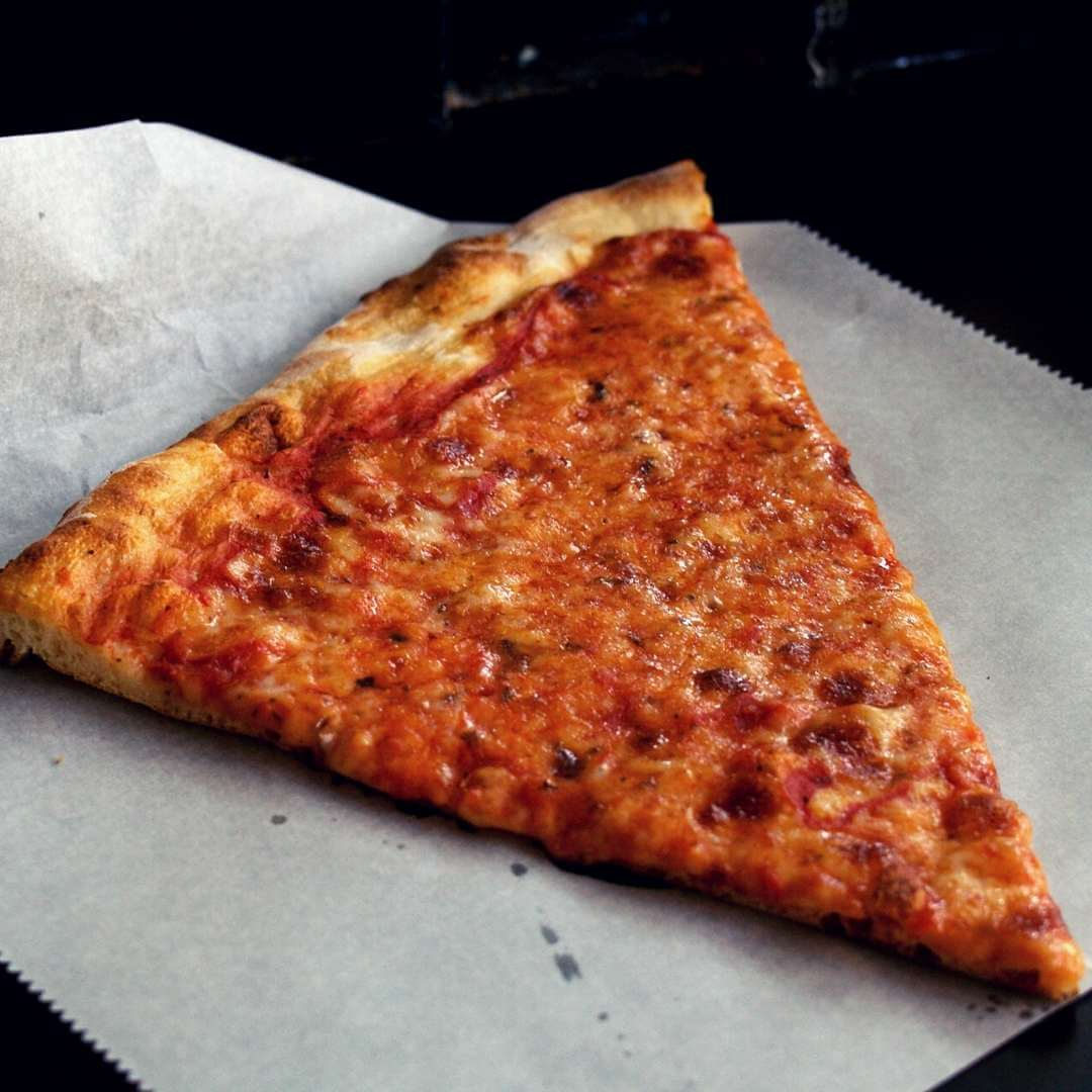 warmed up slice of pizza