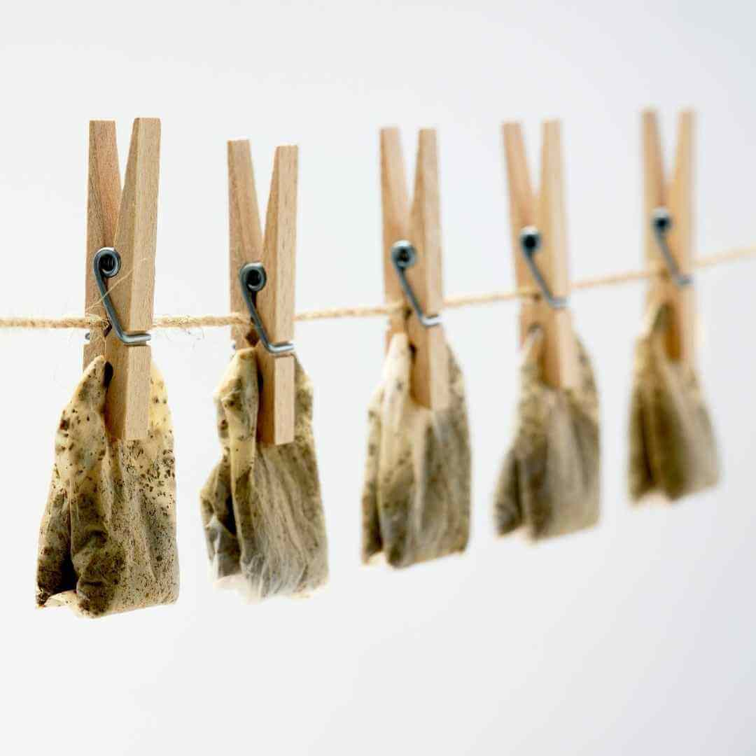 reuse tea bags dried up