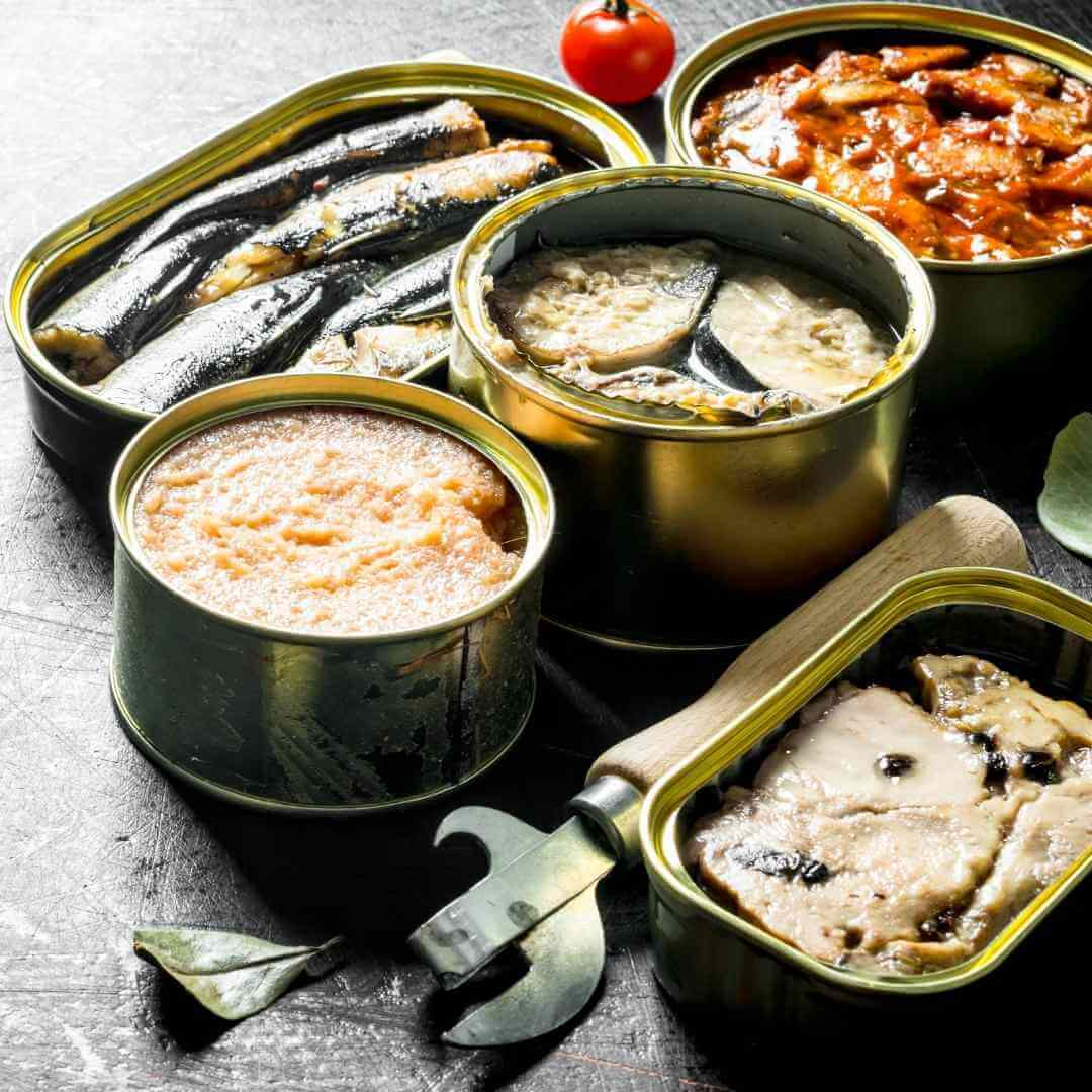 different types of canned fish