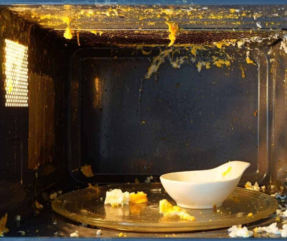 exploded food in the microwave