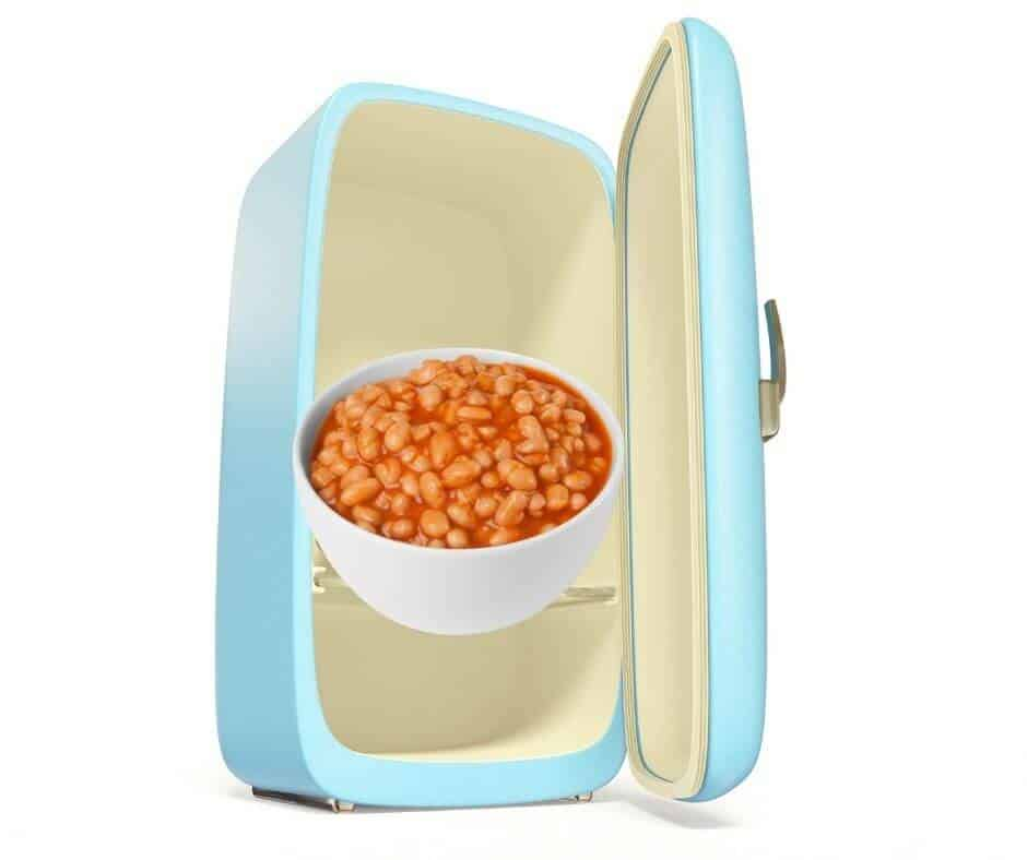 storing baked beans in fridge