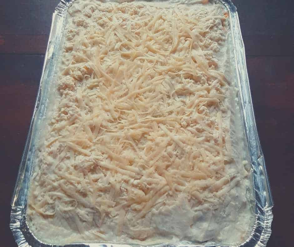 store bought premade frozen lasagna
