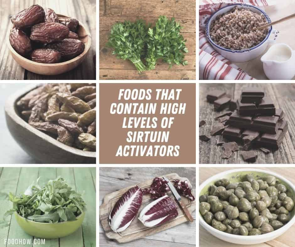 list of sirtuin activators foods