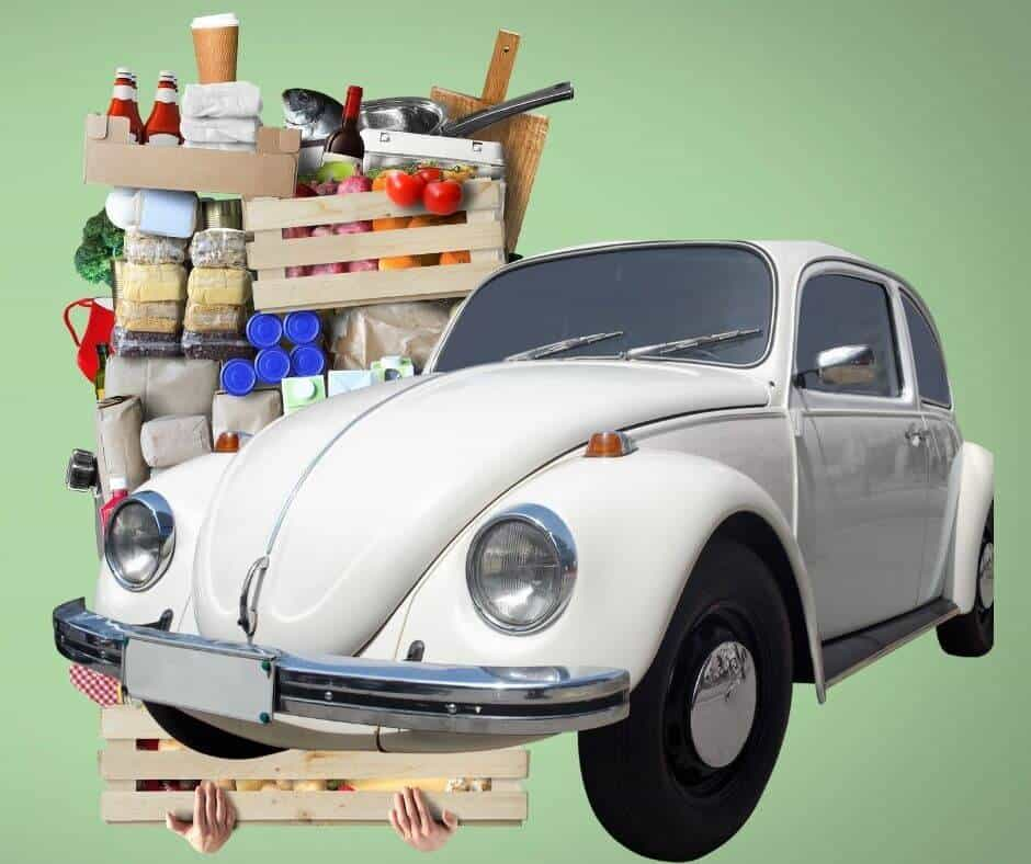 one ton of food compared to VW beetle