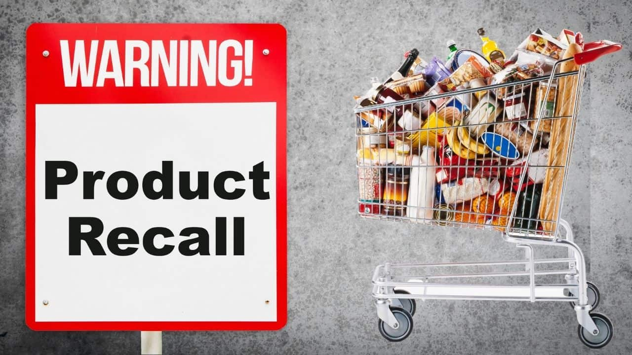 recalled food in the shopping cart