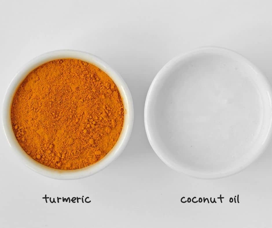ground turmeric and coconut oil