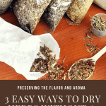 drying herbs at home.