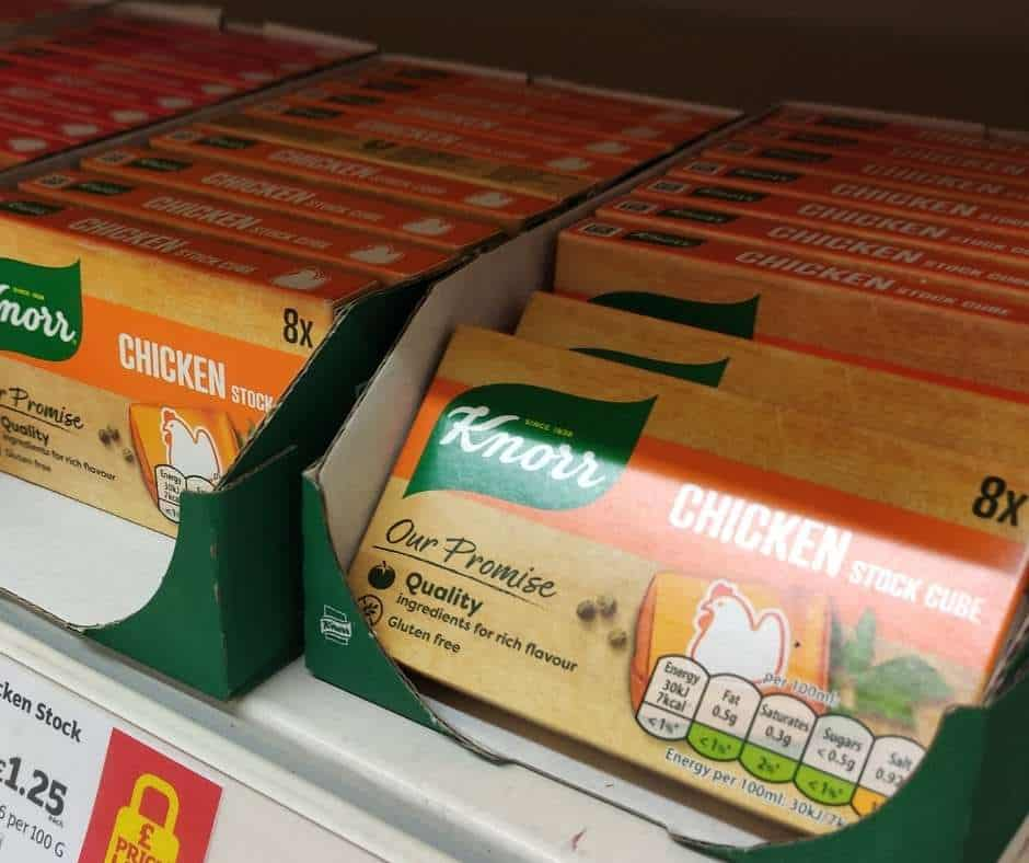 a packet of chicken stock cubes