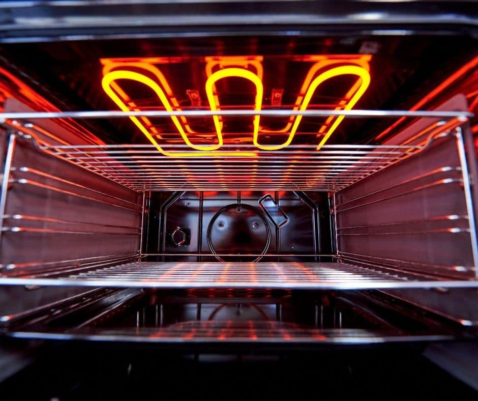 preheated oven for baking