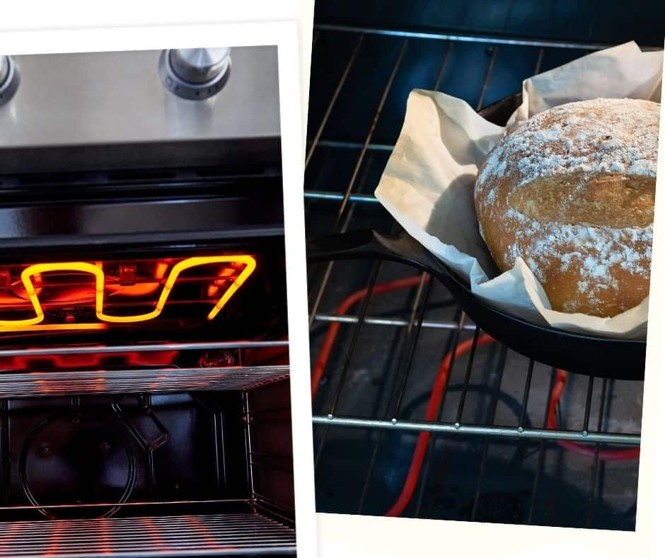 conventional oven with top and bottom heating elements