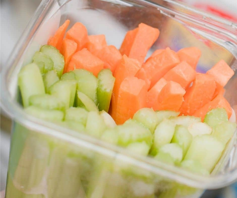 carrots sticks in the container