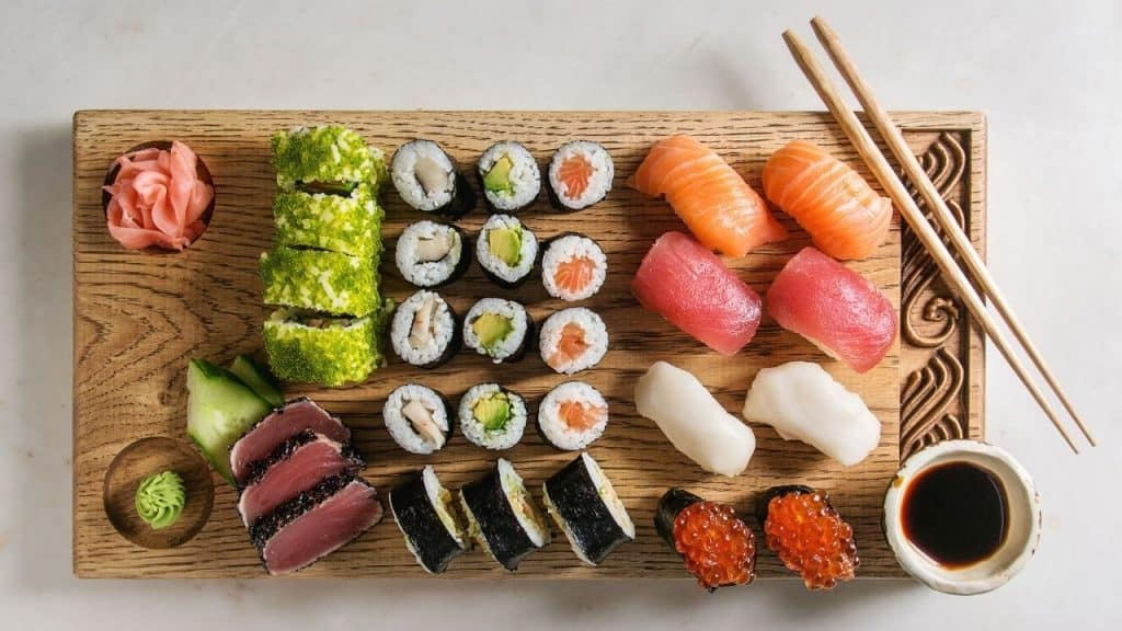 different type of sushi