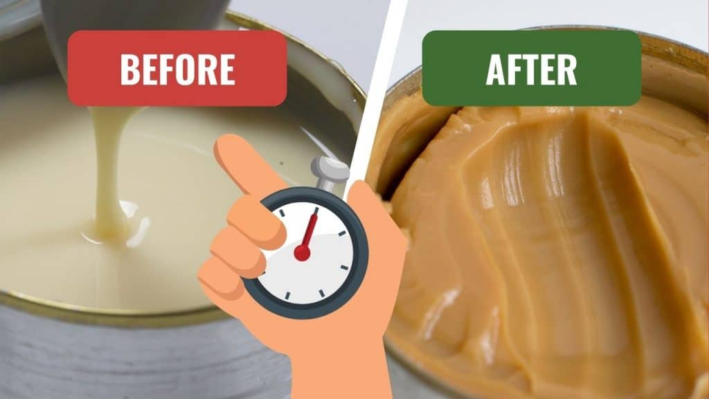 condensed milk before and after boiling